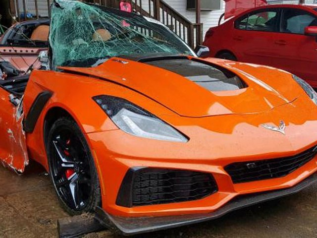 One Brave Soul Decided To Acquire This Wrecked Corvette ZR1