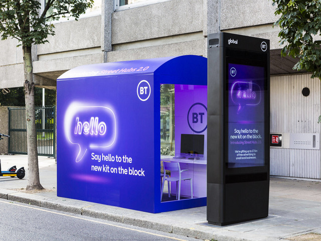 How long till some drunkard puts a foot through one of BT's 'iconic, digital smart city communication hubs'?