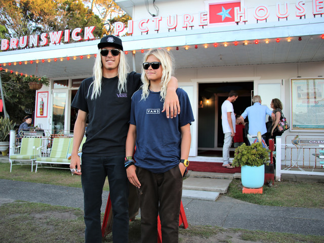 Pro surfer Kyuss King Attended Byron Bay International Film Festival on Tuesday Night to Present a Lucky Audience Winner With a Vans Goodie Bag at The Tony Alva Story.