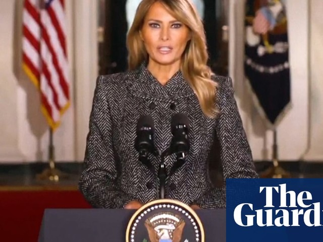 Melania Trump says 'past four years have been unforgettable' in recorded farewell speech – video