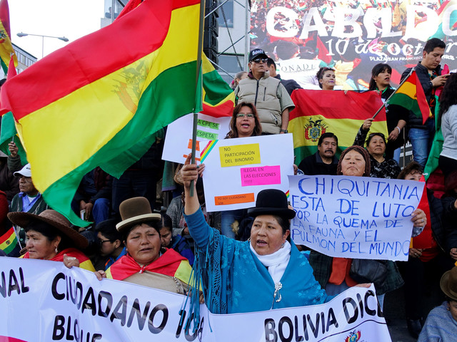 Greenwashing Bolivia's right wing opposition