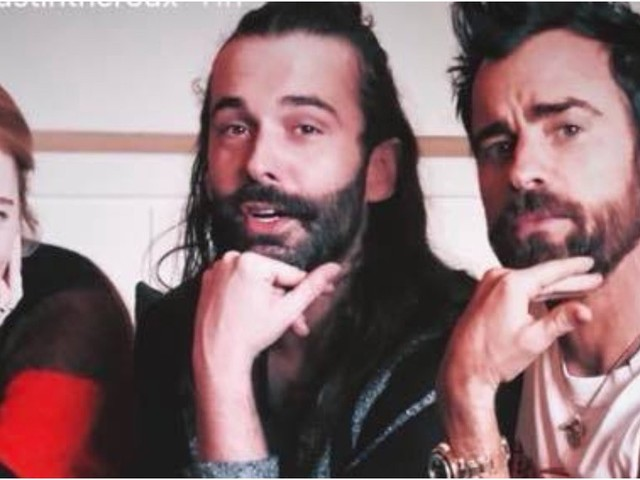 Justin Theroux Squashes Emma Stone Dating Rumors While Posing With Queer Eye's Jonathan