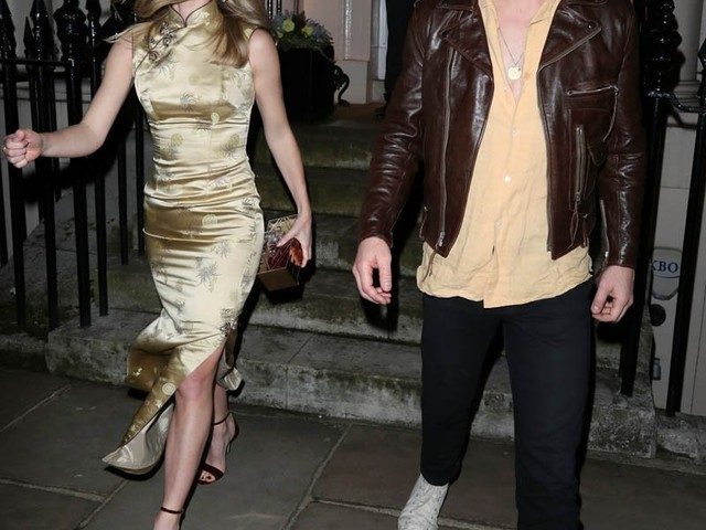Chris Pine and Annabelle Wallis going strong in matching looks in London