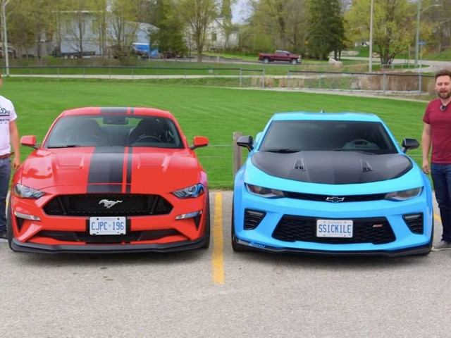 2019 Ford Mustang GT PP2 Battles 2018 Chevy Camaro SS 1LE On The Road