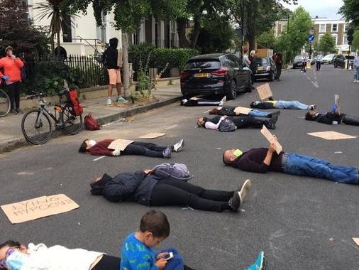 Coronavirus: 'Die-in' outside Dominic Cummings' house over COVID-19 response