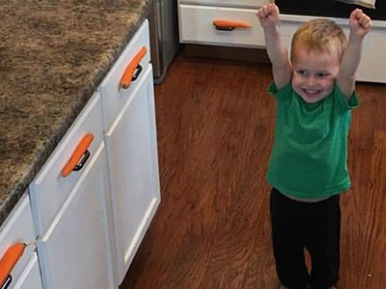 Little boy ingeniously 'hiding' carrots wins the internet today