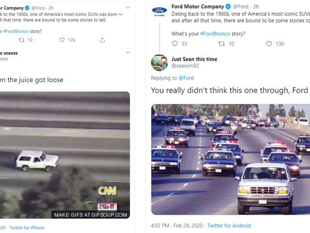Ford Wanted To Promote The Bronco, They Ended Up Getting Trolled Instead