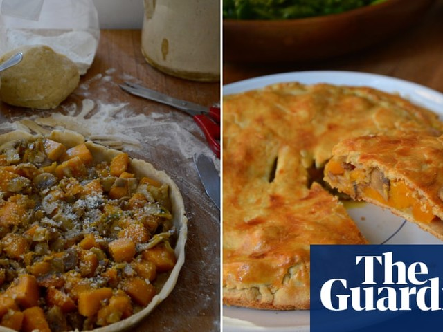 Rachel Roddy's recipe for roast pumpkin, mushroom and chestnut pie | A kitchen in Rome