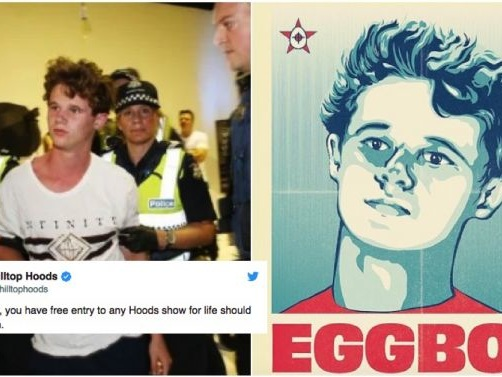 "Musos Across The Globe Salute New Australian Teen Hero, ""Egg Boy"""