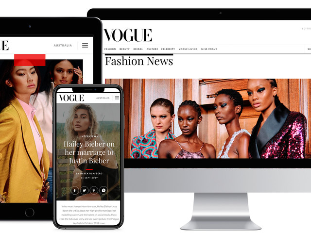 Vogue Australia redesigns website to bring digital luxury to readers and advertisers