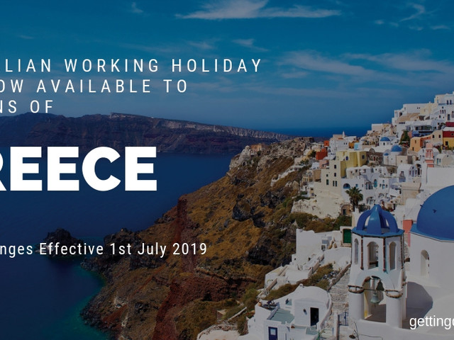 Greece Added As Participant To Australia Working Holiday Visa Program