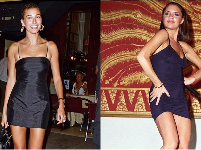 Posh Spice Was Known For the Slinky Black Dress, but Then Hailey Baldwin Came Along