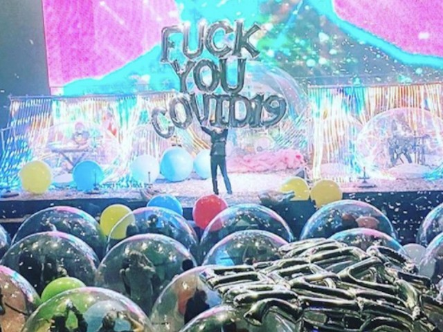 Here's What The Flaming Lips' First Space Bubble Concerts Looked Like