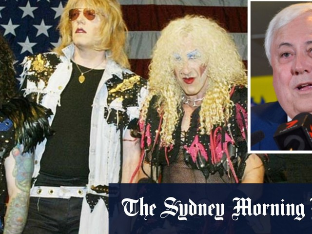 'Part of rock pantheon': Twisted Sister and Clive Palmer face off in court