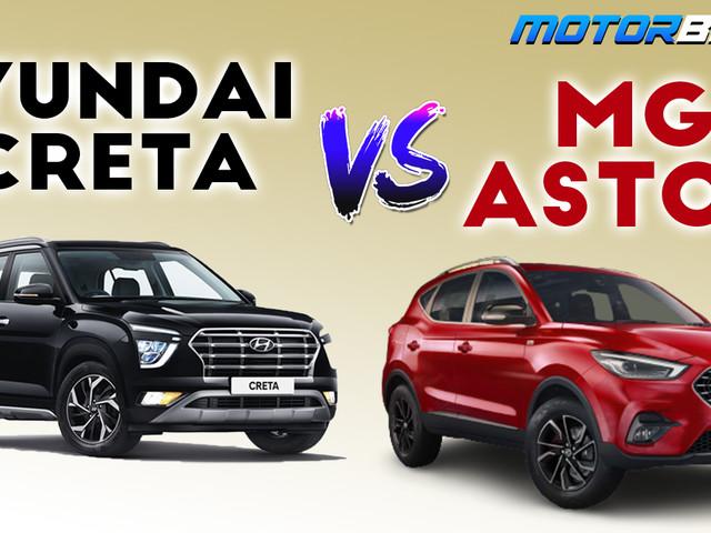 MG Astor vs Hyundai Creta Spec Comparison [Video]