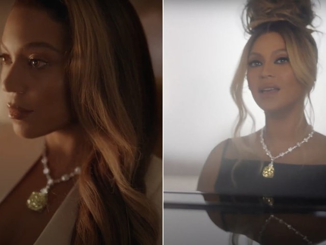 """Beyoncé Wears a Historic 128.54 Carat Diamond for the """"About Love"""" Film by Tiffany & Co."""