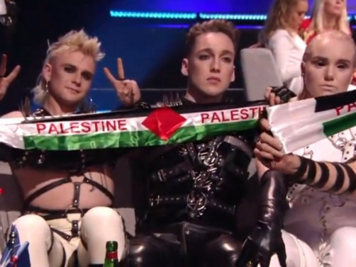 "Eurovision Discussing ""Consequences"" After Icelandic BDSM Punk Band Flashes Palestinian Flag During Grand Final Broadcast"