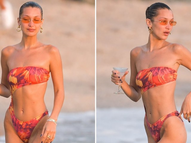 Bella Hadid's Swimsuit Is *Technically* a One-Piece, but It's Sexier Than Most Bikinis I've Seen