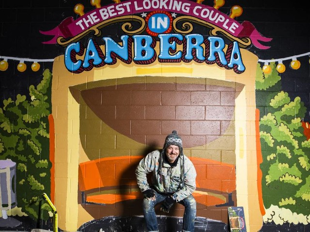 Trevor Dickinson puts Canberrans in the picture with his new mural