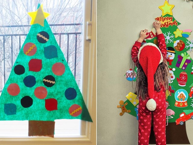 A Felt Christmas Tree Is the Best Way to Keep Your Kiddo From F*cking Up the Real One