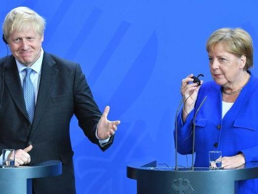 Boris Johnson utters phrase in German which brings back bad memories for Angela Merkel