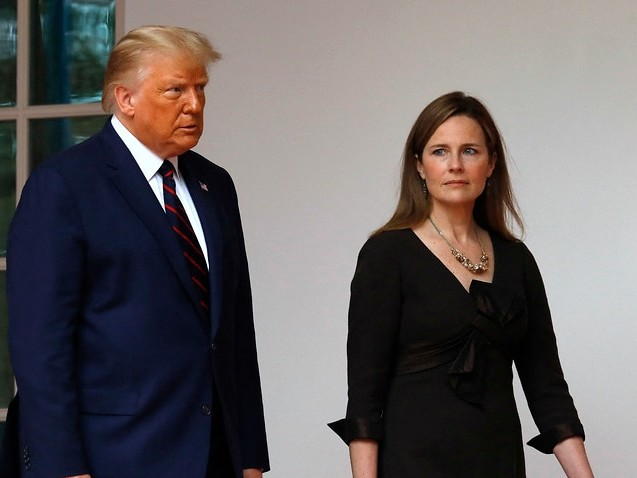 'Certainly possible': Donald Trump says Amy Coney Barrett could help Supreme Court upend abortion laws