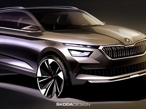Skoda Kamiq Sketches Revealed, New Compact SUV