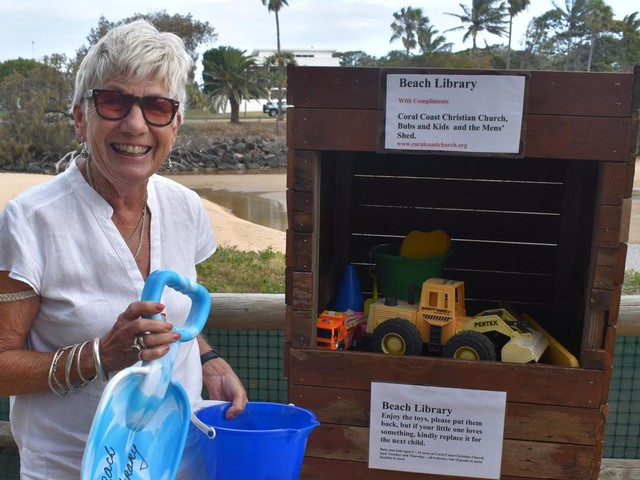 Kind gesture on Bargara beach is all fun and games