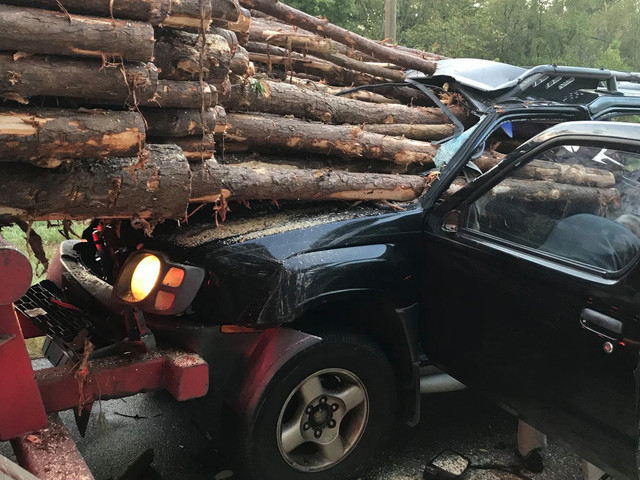 Nissan Xterra Owner Almost Reaches Their Final Destination After Rear-Ending A Logging Truck
