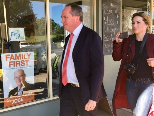 Barnaby Joyce and Vikki Campion welcome a baby boy