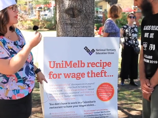 Wage theft exposed at Melbourne University