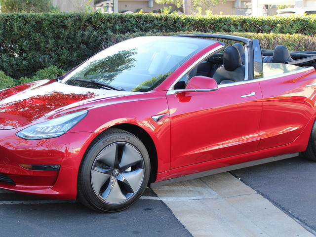 This Tesla Model 3 Convertible Is Probably The Strangest Thing You'll See All Day