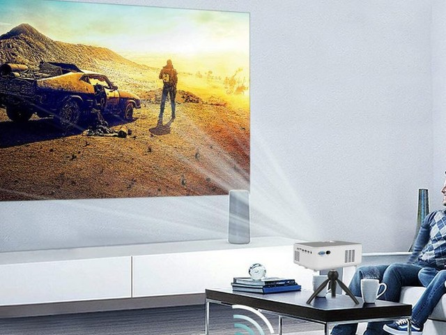 This portable Bluetooth projector has full HD resolution for just $133 - CNET