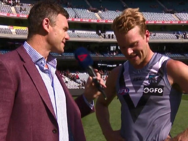 Port Adelaide utility Jack Watts says he didn't want to get out bed during a nightmare pre-season