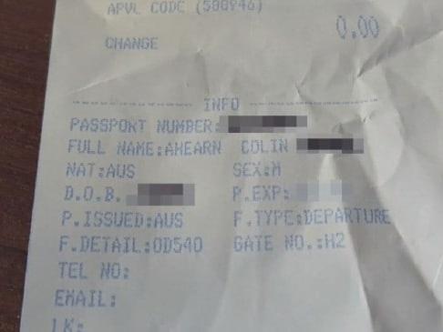 Hidden danger in your airport receipt