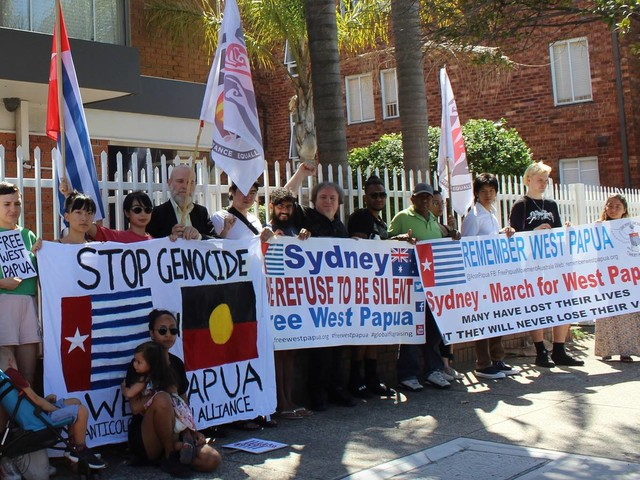 Protesters demand 'Free West Papua'