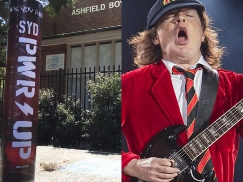 Cryptic AC/DC Poster Pops Up Outside Angus Young's Old High School Amid Comeback Rumours
