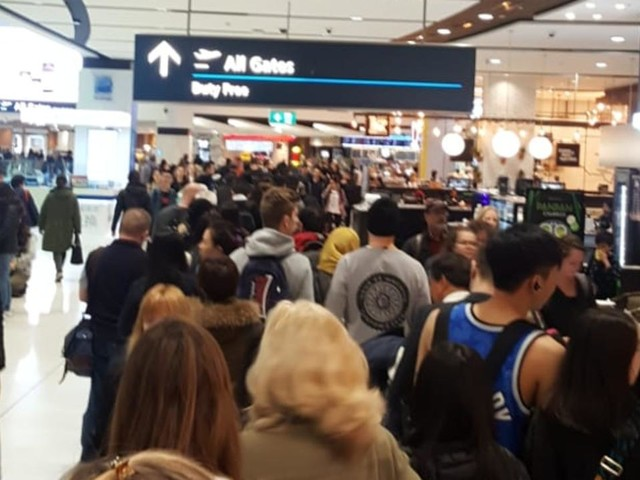 'It's crazy': Sydney Airport in shambles