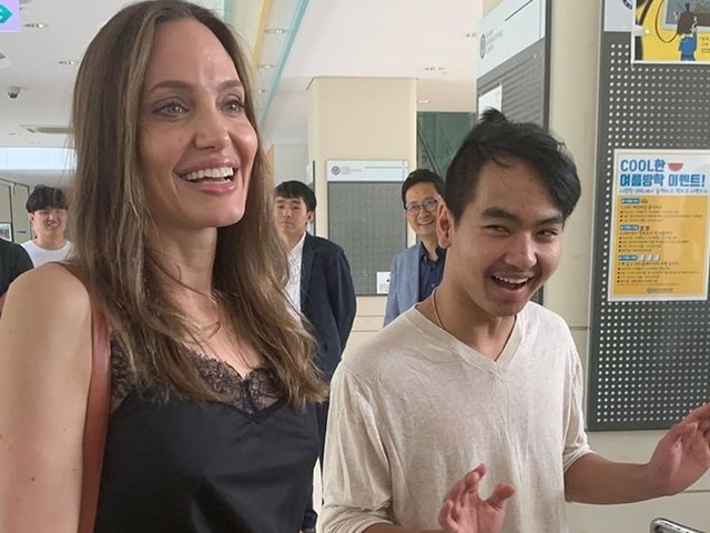 "Angelina Jolie Drops Maddox Off at College and Admits She's ""Trying Not to Cry"" in Sweet Video"