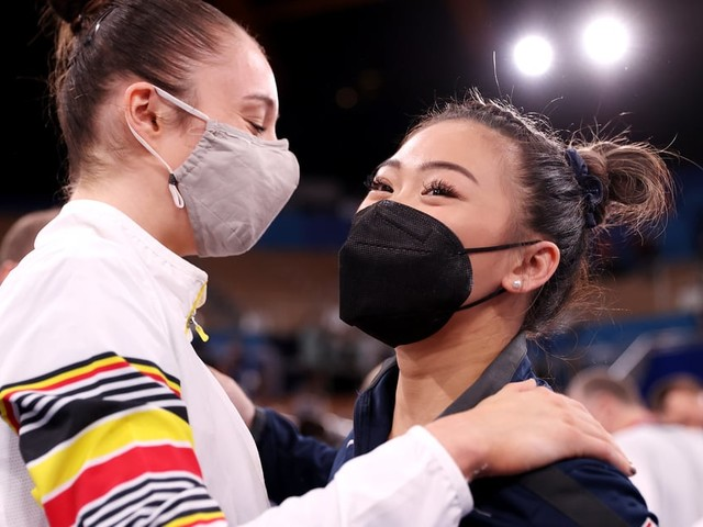 Suni Lee Swings to Bronze and Nina Derwael Makes History at Olympic Gymnastics Bars Final