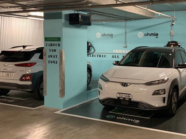 Hyundai Kona Electric 2020 offered in Ohmie Go's car-sharing service