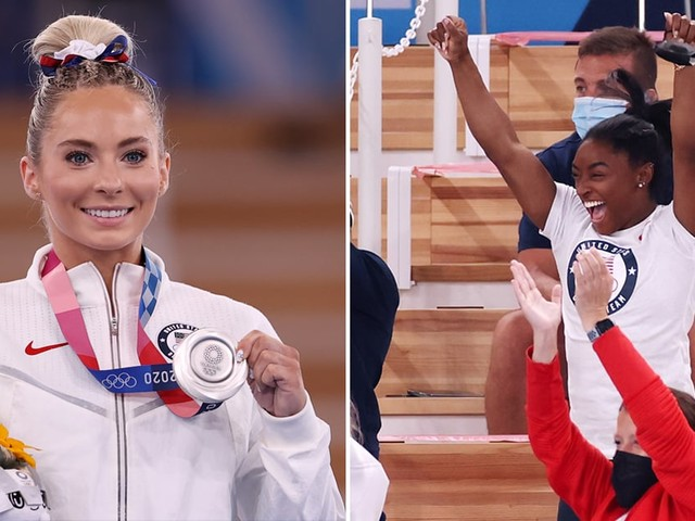 No One at the Olympics Cheered Harder Than Simone Biles When MyKayla Skinner Medaled