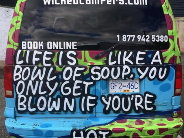 Wicked Campers 'sexually explicit' and 'inappropriate' van criticised by ad watchdog