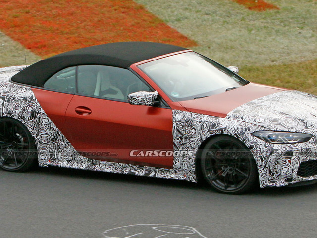 2021 BMW M4 Convertible Gets Dressed In Orange Attire For Nurburgring Track Testing