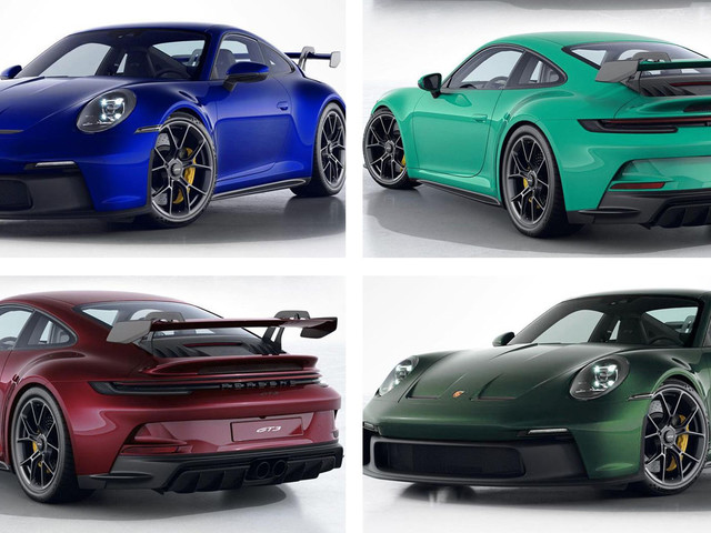 Porsche Dealer Renders New 911 GT3 In Paint-To-Sample Colors