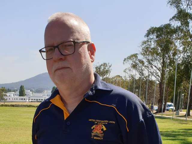 Firefighters union leader: 'There are no climate sceptics on the end of a fire hose'
