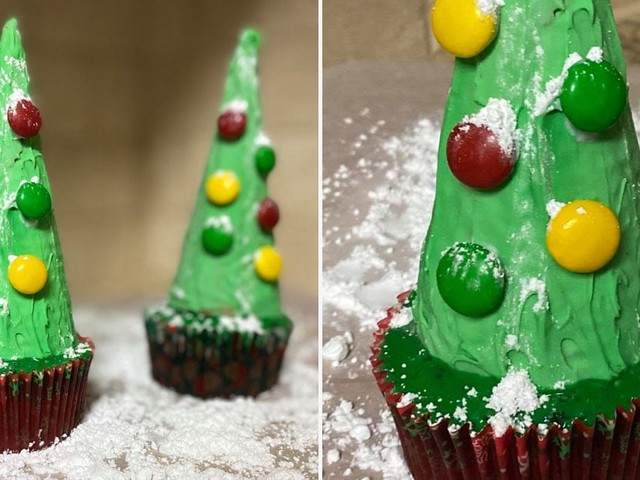 Create Your Own (Edible) Winter Wonderland With These Adorable Christmas Tree Cupcakes