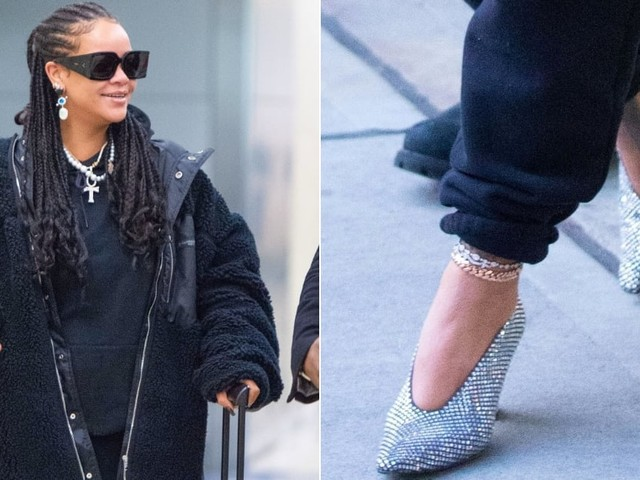 Rihanna Wore a Sweatsuit With Heels to the Airport Again - This Is Why I Stan
