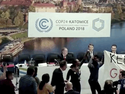 Protestors Shout Down US Pro-Fossil Fuel Event At International Climate Talks In Poland