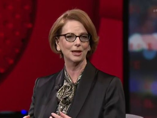Julia Gillard comments on leadership styles in a crisis